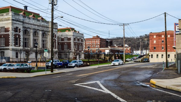 """This area of downtown Wheeling, says Rusty, was one of a few locations where """"Johns"""" could be found to supply the action they craved."""