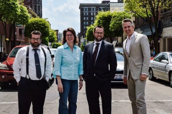 Morris, Scatterday, Thalman, and Elliott wish to help guide Wheeling's rebirth.