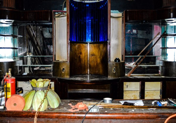 This is one of several bars inside the structure that once housed the Tin Pan Alley.