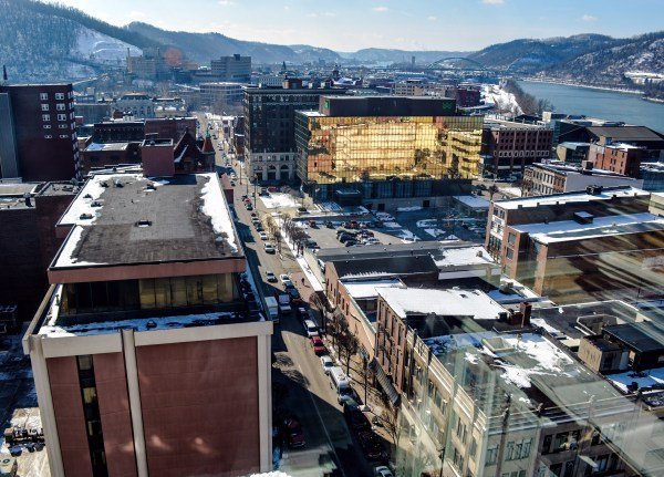 The landscape of downtown Wheeling changed during the 1970s with the construction of Wesbanco Bank's headquarters on the corner of 14th and Market streets.