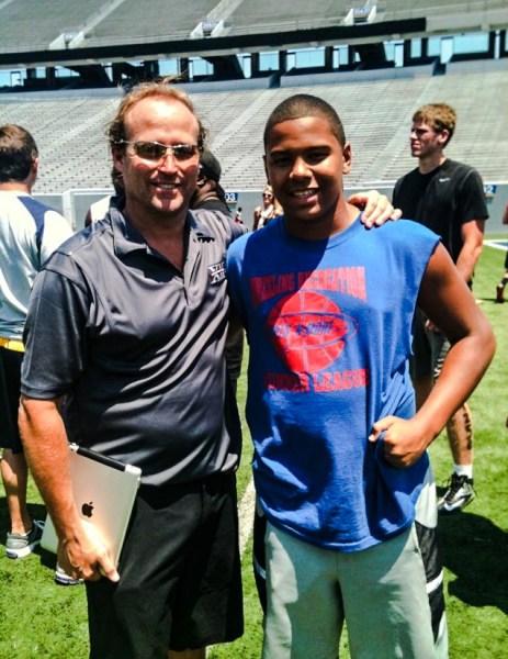Several colleges recruited Savion following his sophomore season, including West Virginia's Dana Holgorsen.