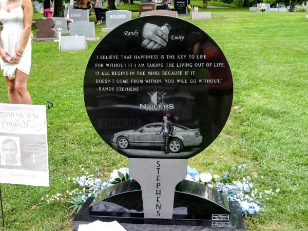 Randy's memorial marker at Greenwood Cemetery.