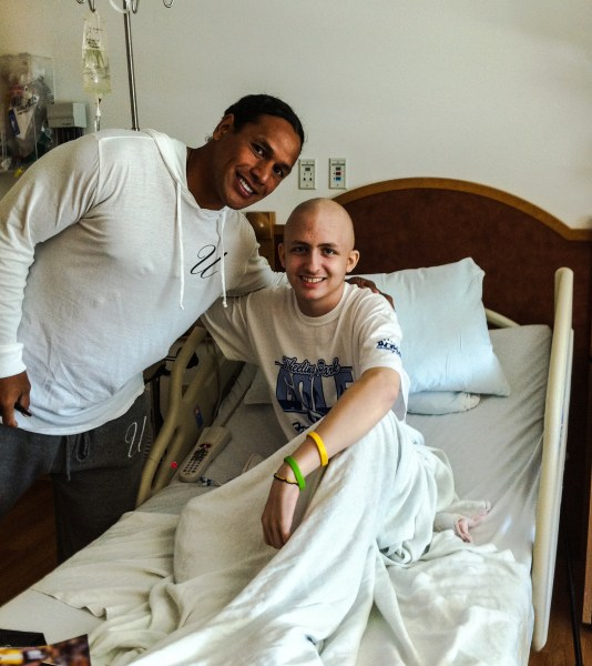 Former Pittsburgh Steeler Troy Polamalu was a frequent visitor when Randy was in Children's Hospital in Pittsburgh.