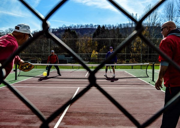 Pickle ball is played often and only in the Elm Grove section of Wheeling.