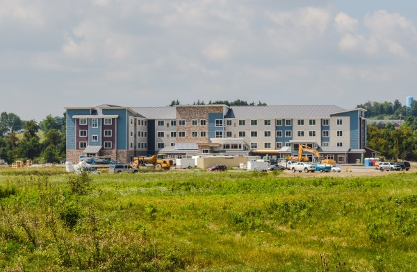 This new Residence Inn hotel near the Ohio Valley Mall will be complete by Christmas.