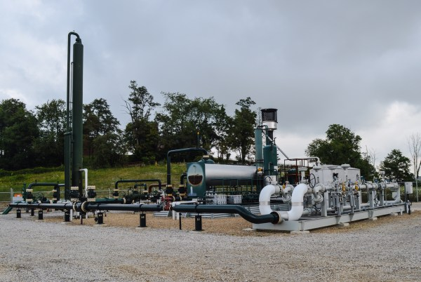 This relay station is located near Morristown, and it assists in the delivery of the harvested natural gas in Belmont County.