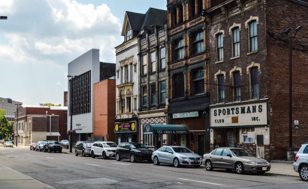 The city of Wheeling recently purchased the first three buildings in this photos - from right to left - with hopes that West Virginia Northern Community College may soon expand its footprint.