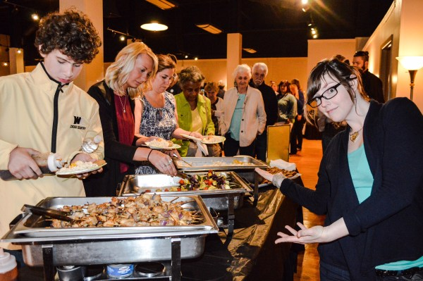 Katie Welsch from the Vagabond Kitchen presents the catering for the May event at the Capitol Ballroom.
