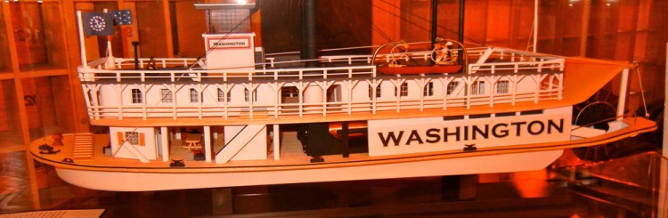 Independence Hall model by John Bowman. Read John Bowman's article at Birthplace of the American Steamboat (Photo - Rich Knoblich)