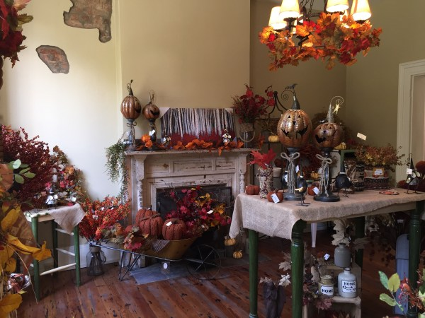 One of the many rooms of the two-story coffee and gift shop and the Garden Center's new location on Warden Run Road.