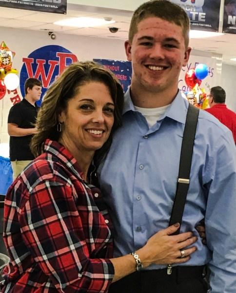 Debbie Wilkinson with her son Cross.