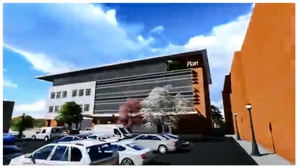 This rendering shows that some parking will be included in the construction of the $20 million headquarters.
