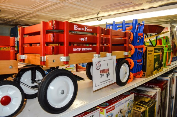 Oh yes, the red wagon is still available this Christmas.