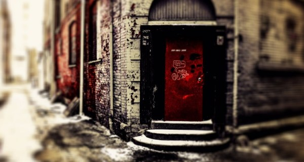 The door that once led patrons into the Tin Pan Alley.