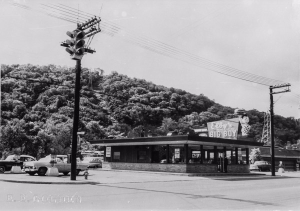"""""""No. 1"""" - the very first Elby's Big Boy Restaurant was located along National Road near Linsly Military Institute."""
