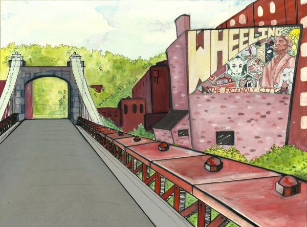 This rendering and the one used for the cover photo were created by Wheeling artist Amanda Carney from the Cat's Paw Art Studio in Centre Market.