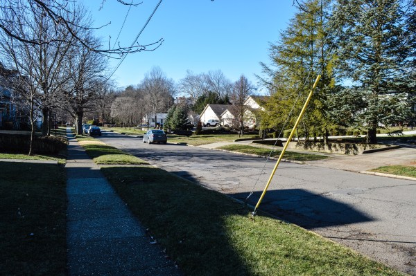 Residents along this stretch of Elm Street in Woodsdale have experienced flooding during the past year because of the amount of debris in Elm Run.