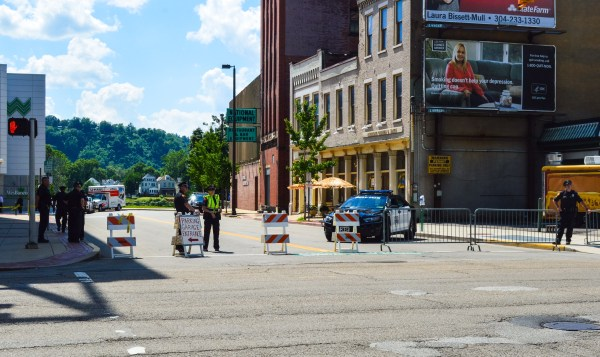 Portions of 14th and Water streets were closed to vehicular and pedestrian traffic.