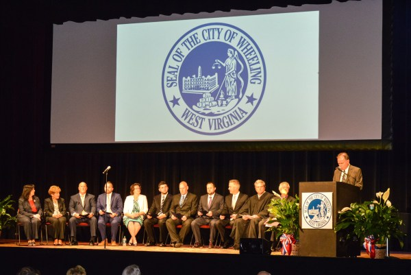 Mayor Elliott and the six council members were sworn into office last Friday at the Capitol Theatre.