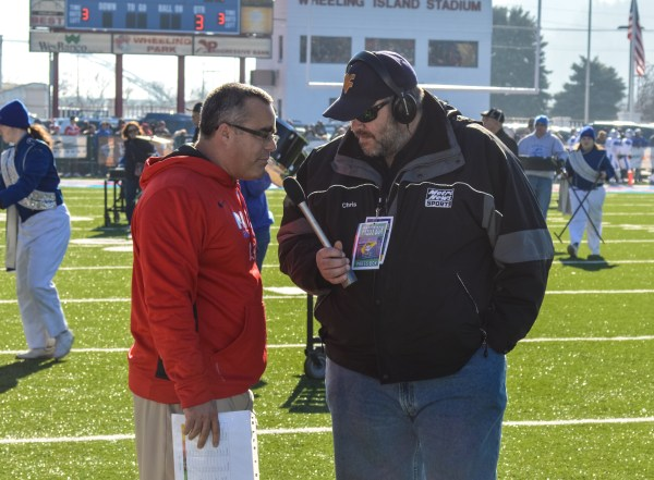 Statewide media converged on Daughtery and the Park football team prior to the state championship game.