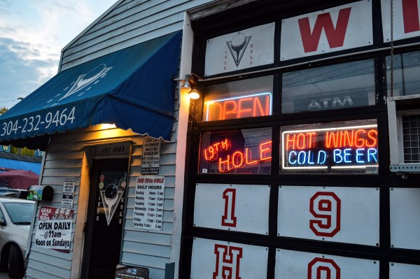 The 19th Hole on National Road in Wheeling is a most popular destination for local football fans.