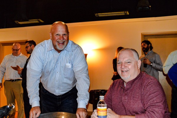 Delbrugge served on Wheeling Council with Don Atkinson (on right), but decided to retire from public service before working with Dave Palmer (on left) who won in Ward 6 this past May.