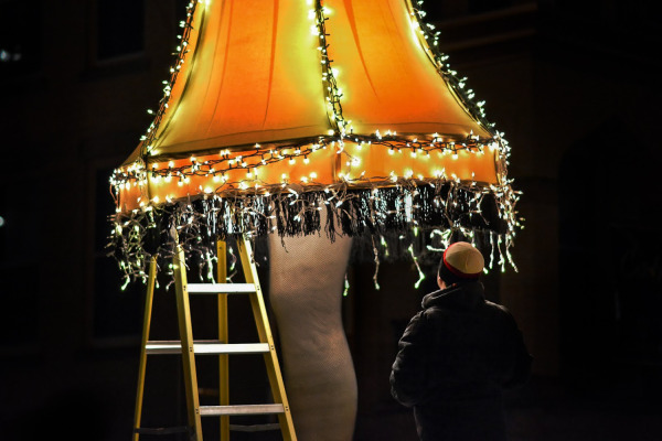 "The ""Leg Lamp,"" made famous by the movie, ""A Christmas Story,"" made an appearance in last year's parade."