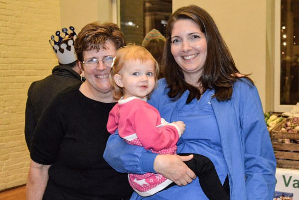 Three generations of ladies stopped for a photo - Grandma Debbie Joseph (on left) with her daughter Kristen and granddaughter Kylie.