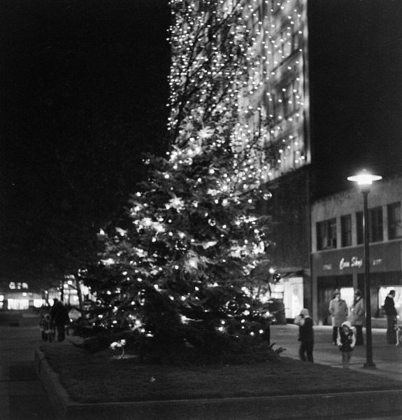 Many native of the Friendly City continue to recall when Stone & Thomas decorated one side of the multi-floor department store with a plethora of white lights.