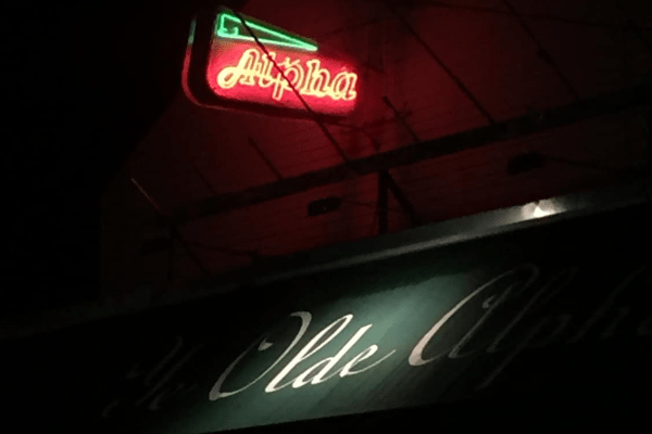 The Alpha at night