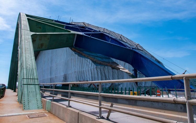 Fort Henry Bridge construction
