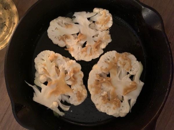 Sliced Cauliflower with Miso