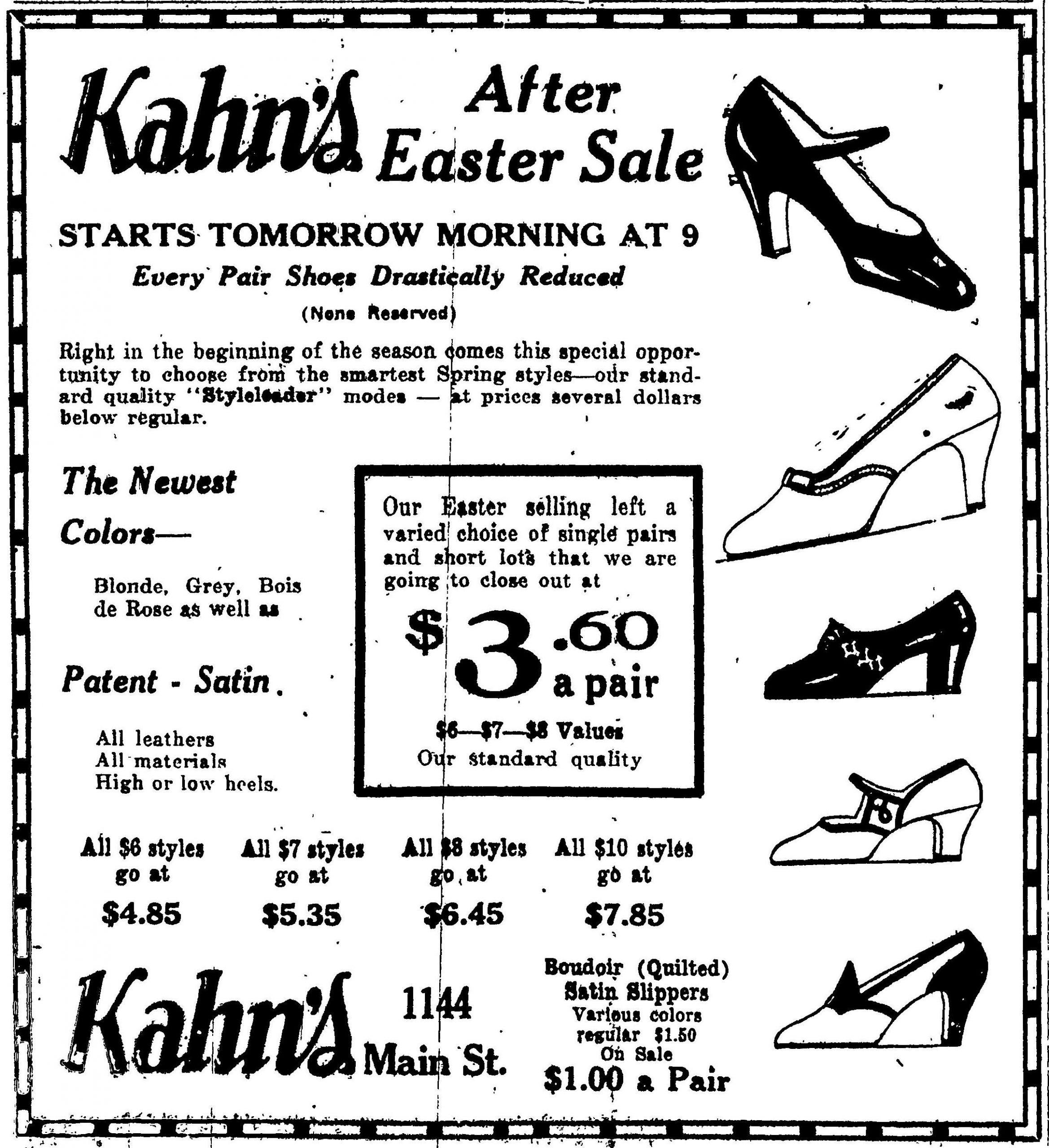 Kahn's - Wheeling Intelligencer, April 5, 1926