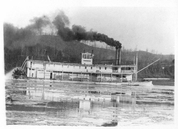 Mary B. Greene took command of her very first steamer, the Argand, here in Wheeling in 1897