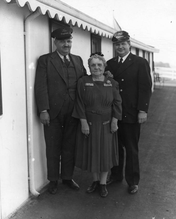 Capt. Mary between her sons