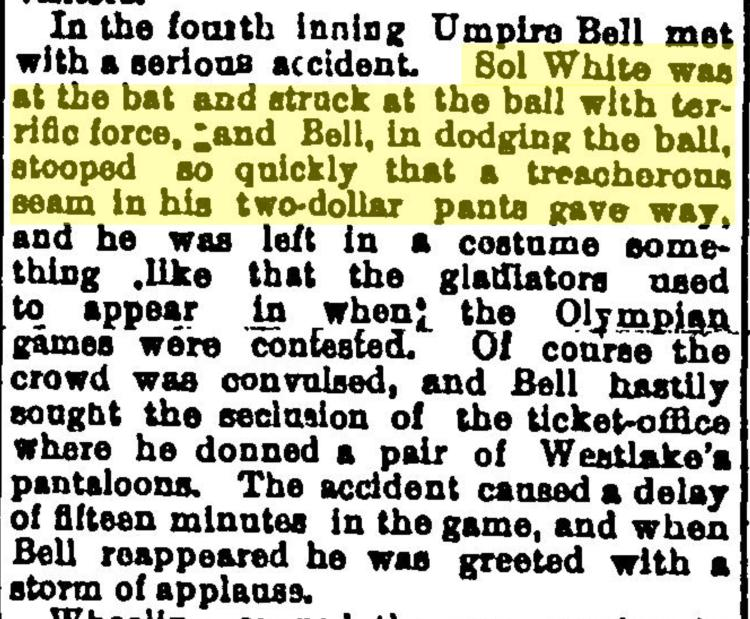 Description of Sol White's terrific hit