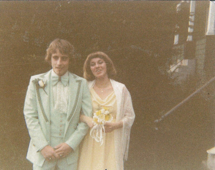 Michael and his future wife, Julie, at senior prom in 1978