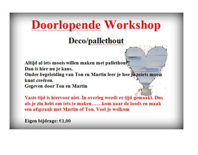 doorlopende workshop