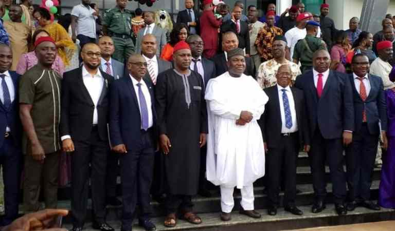Ugwuanyi swears in Commissioners, Advisers, retains Uzor as Chief of Staff
