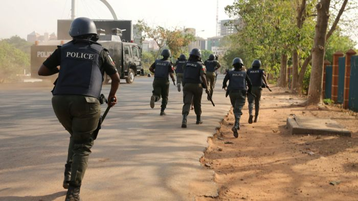 Heavy Protest As Angry Youths Set Police station On Fire, Policemen Flee