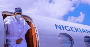 SHOCKING!! Buhari Spotted Wearing Face Mask For The First Time Since COVID-19 Out Break In Nigeria (Photos)