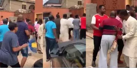 JUST IN!! Serious Fight In Church As Pastor Refuses Landlord's Quit Notice In Delta State (Video)