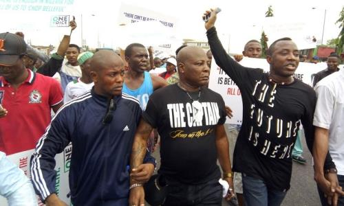 BREAKING!! Charly Boy Joins #OccupyLekkiTollGate Protests, Says Animals Cannot Dash Us Human Right