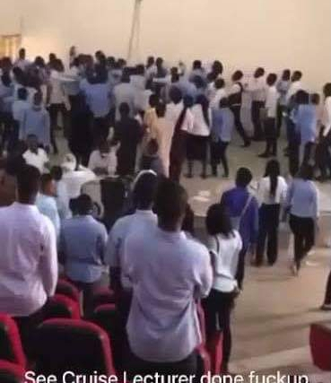 HOT VIDEO!! Angry Students Beat University of Abuja Lecturer Mercilessly For Seizing Exam Scripts