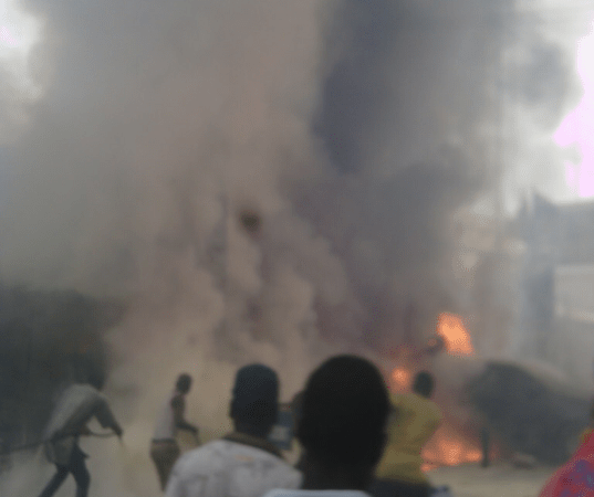 BREAKING!! Tension In Nigeria As Hoodlums Set INEC Office On Fire, Destroyed Ballot Boxes, Says No Election 2023