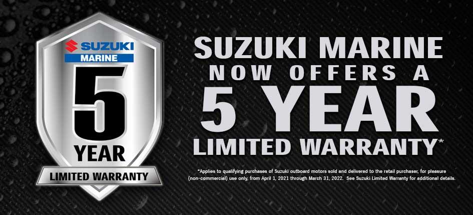 Suzuki has 5yr warranty