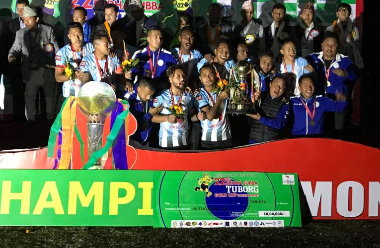 MMC the champions of 22nd Budha Subba Gold Cup