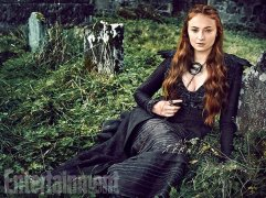 """Sophie Turner as Sansa Stark """"This is the season I'm most excited for,"""" says Turner. """"Sansa's coming into her own and standing up for herself."""" (Image Credit: MARC HOM for EW)"""