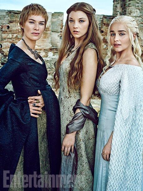 Lena Headey, Natalie Dormer, and Emilia Clarke (Image Credit: MARC HOM for EW)