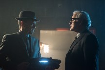 """DC's Legends of Tomorrow -- """"Night of the Hawk"""" -- Image LGN108a_0205.jpg -- Pictured (L-R): Wentworth Miller as Leonard Snart / Captain Cold and Victor Garber as Professor Martin Stein -- Photo: Dean Buscher/The CW -- © 2016 The CW Network, LLC. All Rights Reserved"""